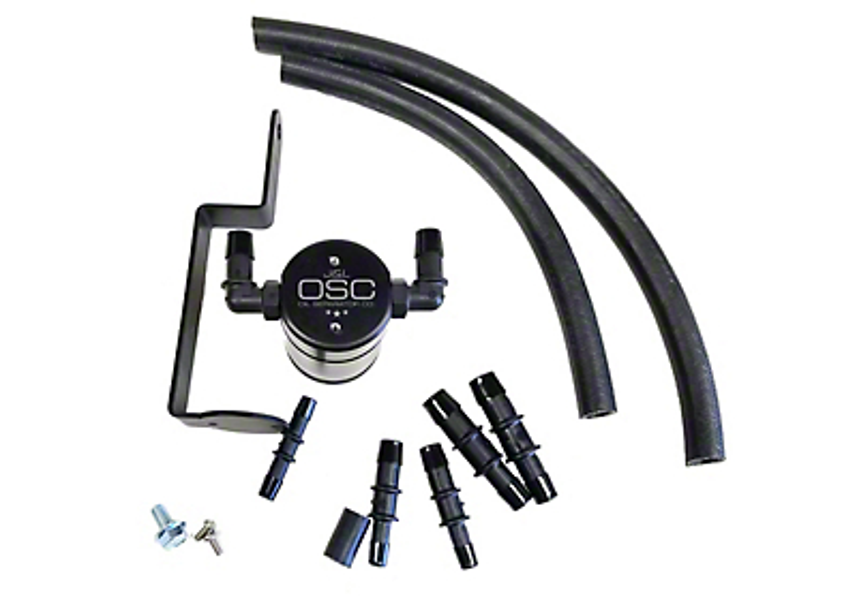 JLT V3.0 Black Oil Separator - Passenger Side (99-04 GT; 2001 Bullitt)