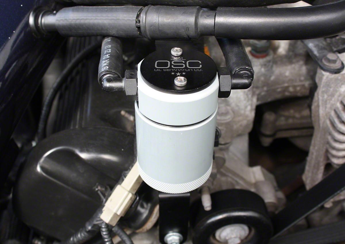 JLT V3.0 Satin Oil Separator - Passenger Side (99-04 GT, 01 Bullitt)