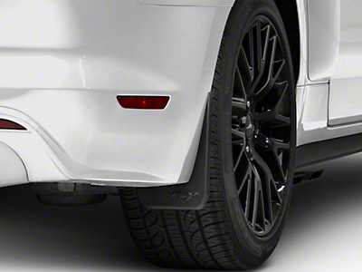 MMD Splash Guards w/ Pony Logo - Rear Pair (15-17 GT, EcoBoost, V6 w/ Non-Premium Rear Bumper)