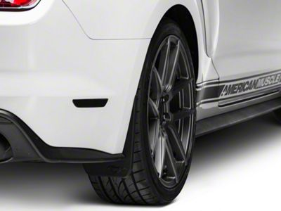 MMD Splash Guards w/ Pony Logo - Rear Pair - For Premium Bumpers (15-17 GT Premium, EcoBoost Premium)
