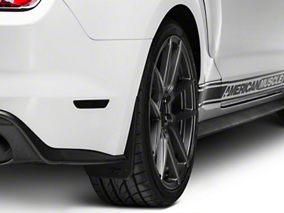 MMD Splash Guards w/ Pony Logo - Rear Pair (15-17 GT Premium, EcoBoost Premium)