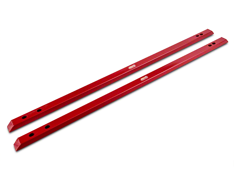 J&M Full Length Jacking Rails - Red (15-19 Fastback)