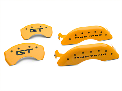 MGP Yellow Caliper Covers w/ GT Logo - Front & Rear (15-19 Standard GT)