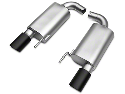 LTH Axle-Back Exhaust System - Black Tip (15-17 GT)