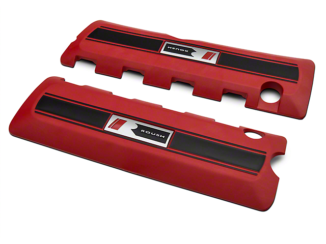 Roush Coil Cover Kit - Red (11-17 GT; 12-13 BOSS 302; 15-17 GT350)