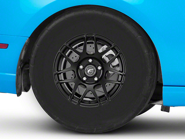 Forgestar F14 Drag Edition Matte Black Wheel; Rear Only; 15x10 (10-14 GT, V6)