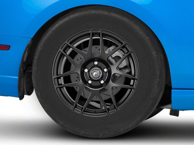 Forgestar F14 Drag Edition Matte Black Wheel; Rear Only; 17x9.5 (10-14 All)