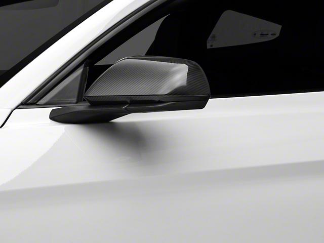 MMD Mirror Covers; Carbon Fiber (15-21 w/ Mirror Signals)