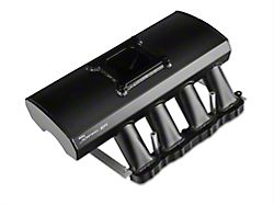 Sniper Fabricated Intake Manifold with Fuel Rail Kit; Black (05-10 GT)