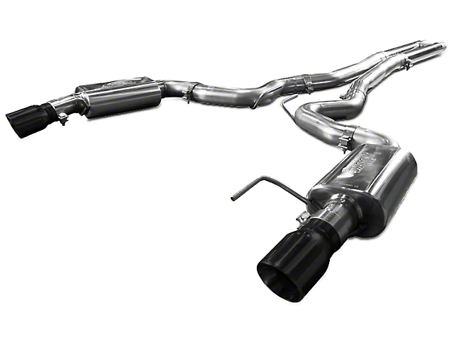 Kooks Cat-Back Exhaust w/ H-Pipe - Black Tips (15-17 GT)