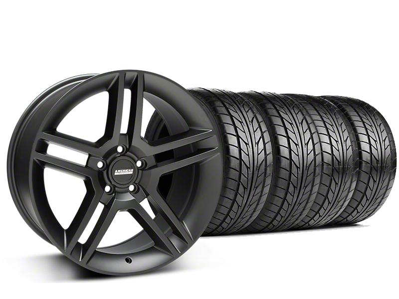 2010 GT500 Style Matte Black Wheel & NITTO NT555 G2 Tire Kit - 19x8.5 (05-14 All)