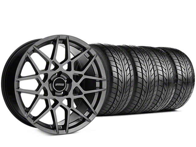 2013 GT500 Style Hyper Dark Wheel & NITTO NT555 G2 Tire Kit - 19x8.5 (05-14 V6, GT)