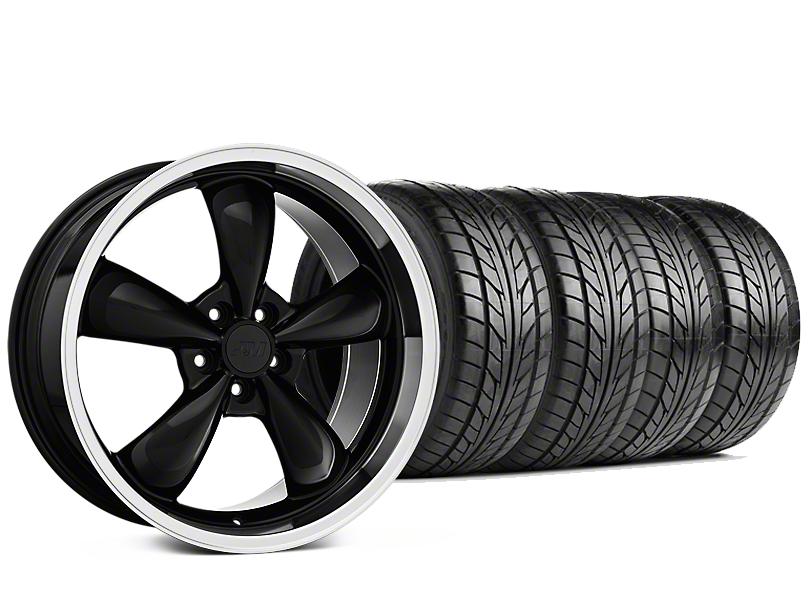 Bullitt Black Wheel & NITTO NT555 G2 Tire Kit - 19x8.5 (05-14 V6, GT)