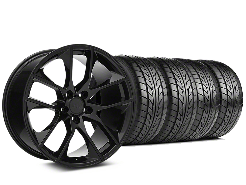 Magnetic Style Black Wheel & NITTO NT555 G2 Tire Kit - 19x8.5 (05-14 All)