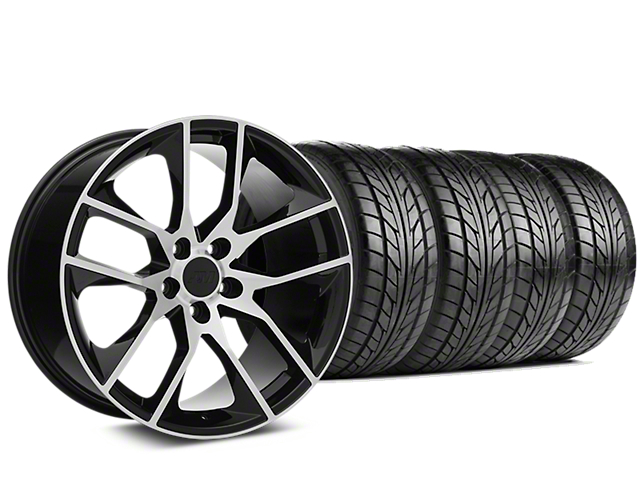Magnetic Style Black Machined Wheel & NITTO NT555 G2 Tire Kit - 19x8.5 (05-14 All)