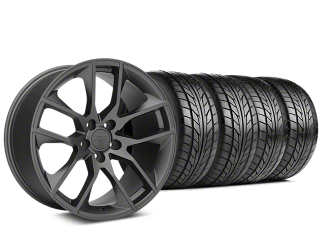 Magnetic Style Charcoal Wheel and NITTO NT555 G2 Tire Kit; 19x8.5 (05-14 All)