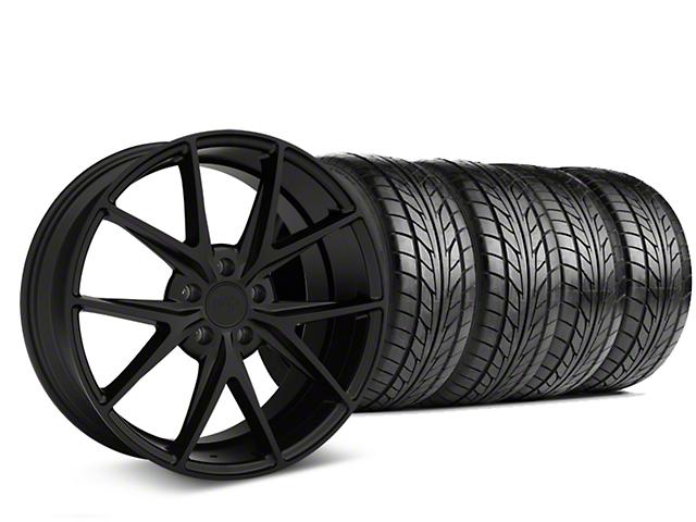 Niche Misano Matte Black Wheel and NITTO NT555 G2 Tire Kit; 19x8.5 (05-14 All)