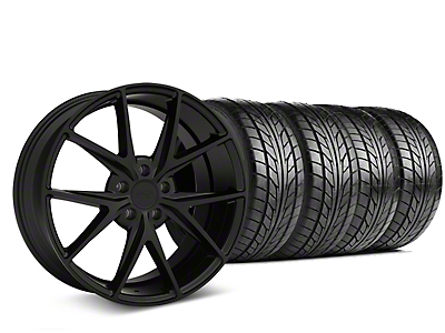 Niche Misano Matte Black Wheel & NITTO NT555 G2 Tire Kit - 19x8.5 (05-14 All)
