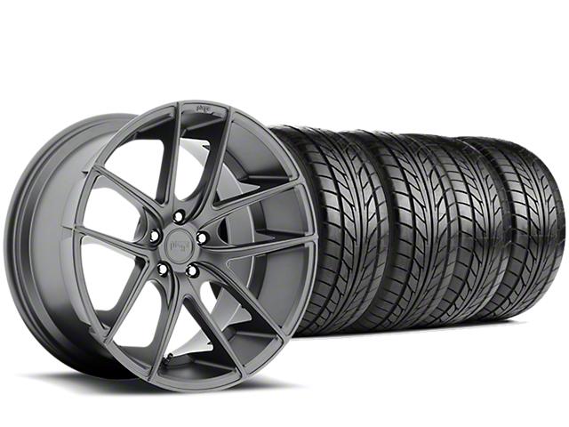 Niche Targa Matte Anthracite Wheel & NITTO NT555 G2 Tire Kit - 19x8.5 (05-14 All)