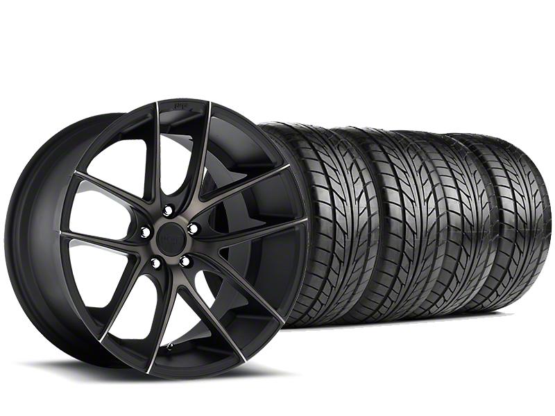 Niche Targa Matte Black Wheel & NITTO NT555 G2 Tire Kit - 19x8.5 (05-14 All)