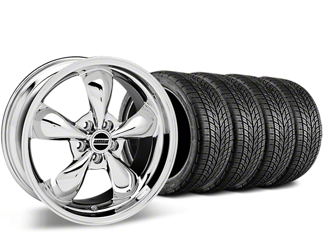 Bullitt Chrome Wheel & BF Goodrich G-FORCE COMP 2 Tire Kit - 19x8.5 (05-14 GT, V6)