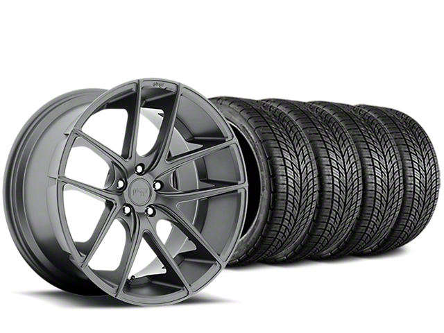 Niche Targa Matte Anthracite Wheel & BF Goodrich G-FORCE COMP 2 Tire Kit - 19x8.5 (05-14 All)