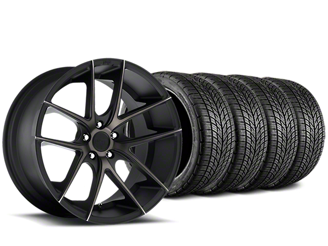Niche Targa Matte Black Wheel & BF Goodrich G-FORCE COMP 2 Tire Kit - 19x8.5 (05-14 All)