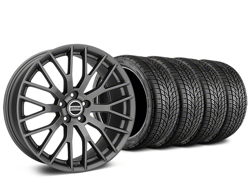 Performance Pack Style Charcoal Wheel & BF Goodrich G-FORCE COMP 2 Tire Kit - 19x8.5 (05-14 All)