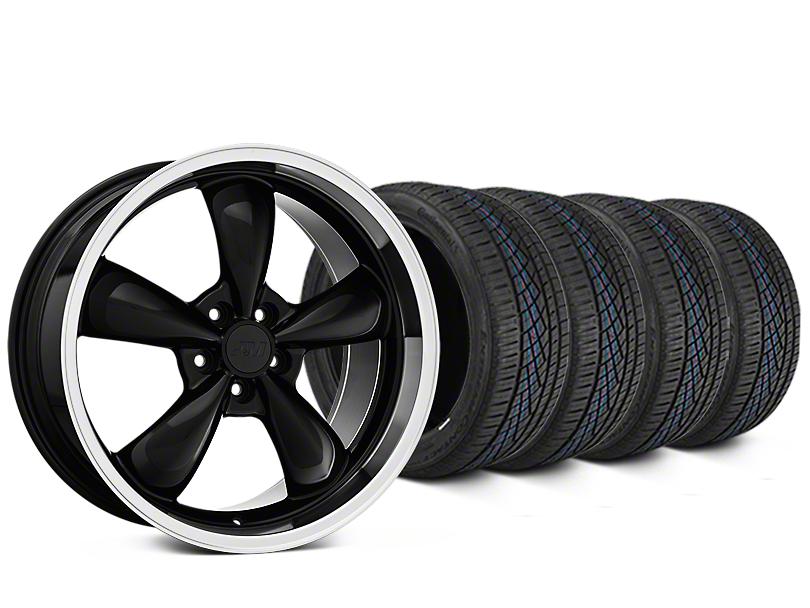 Bullitt Black Wheel & Continental Extreme Contact DWS06 Tire Kit - 19x8.5 (05-14 Standard GT, V6)