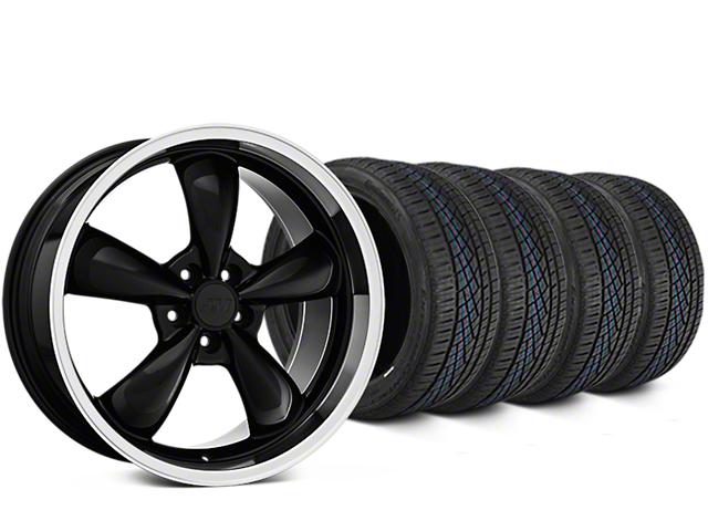 Bullitt Black Wheel & Continental Extreme Contact DWS06 Tire Kit - 19x8.5 (05-14 GT, V6)