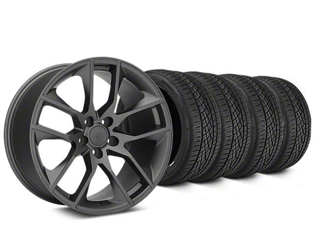 Magnetic Style Charcoal Wheel and Continental Extreme Contact DWS06 Tire Kit; 19x8.5 (05-14 All)