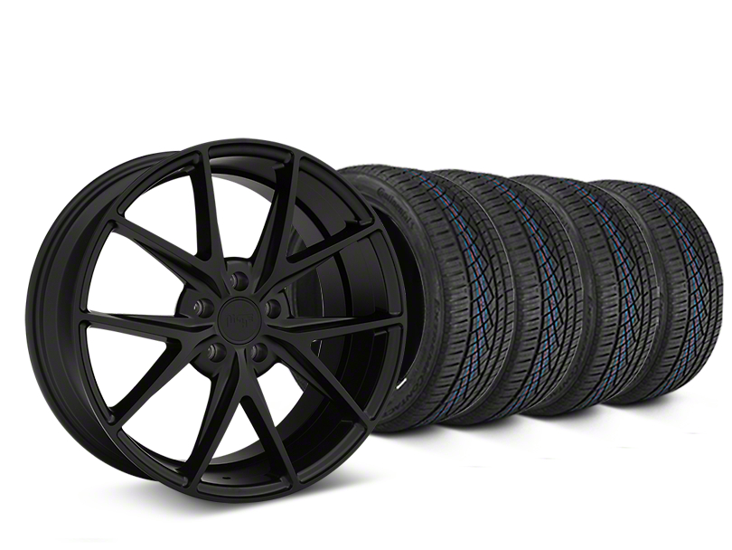 Niche Misano Matte Black Wheel and Continental Extreme Contact DWS06 Tire Kit; 19x8.5 (05-14 All)