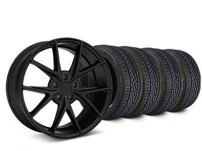 Niche Misano Matte Black Wheel & Continental Extreme Contact DWS06 Tire Kit - 19x8.5 (05-14 All)