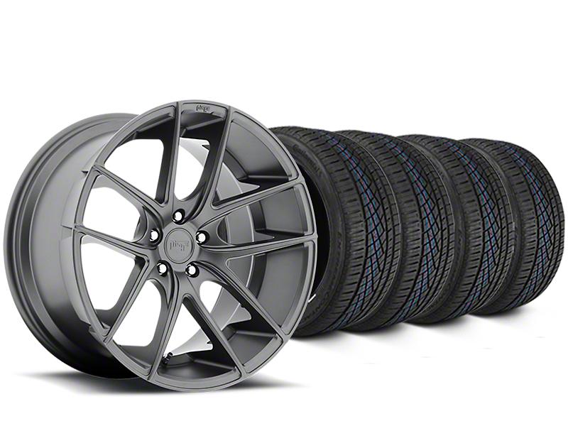 Niche Targa Matte Anthracite Wheel & Continental Extreme Contact DWS06 Tire Kit - 19x8 (05-14 All)