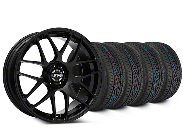 RTR Black Wheel & Continental Extreme Contact DWS06 Tire Kit - 19x8.5 (05-14 All)
