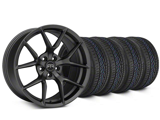 RTR Tech 5 Charcoal Wheel and Continental Extreme Contact DWS06 Tire Kit; 19x9.5 (05-14 All)