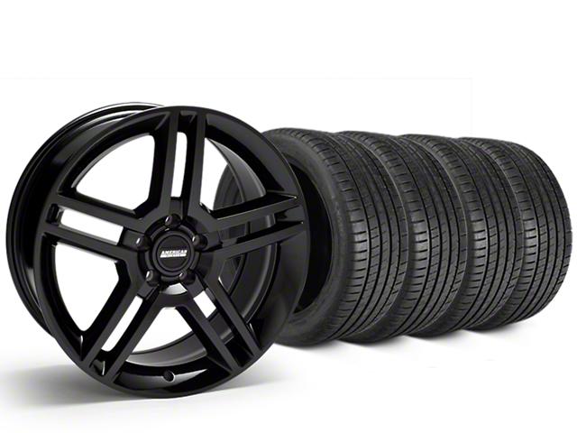 2010 GT500 Style Black Wheel & Michelin Pilot Super Sport Tire Kit - 19x8.5 (05-14 All)