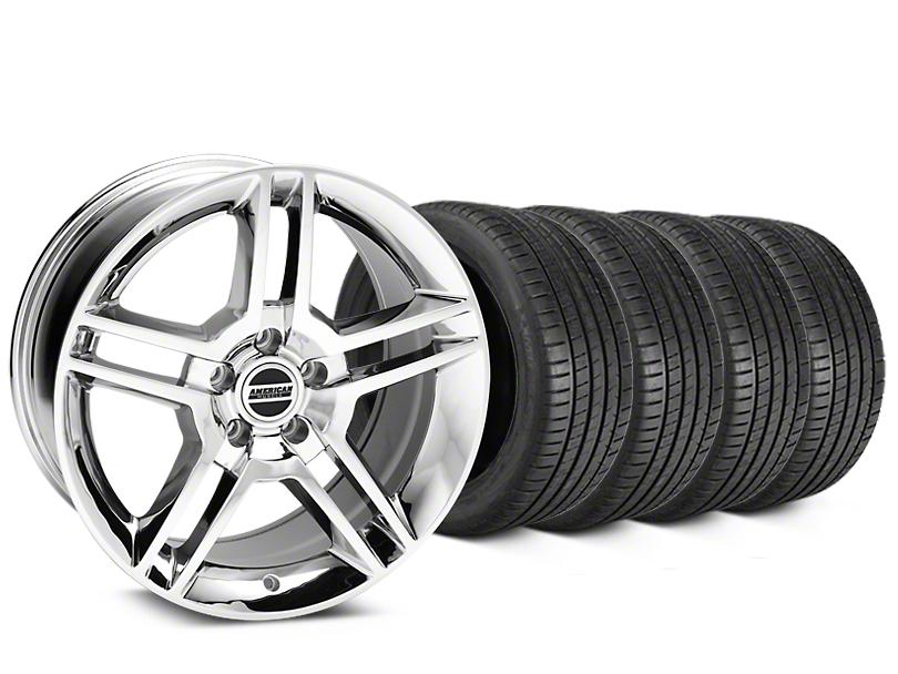 2010 GT500 Style Chrome Wheel & Michelin Pilot Super Sport Tire Kit - 19x8.5 (05-14 All)