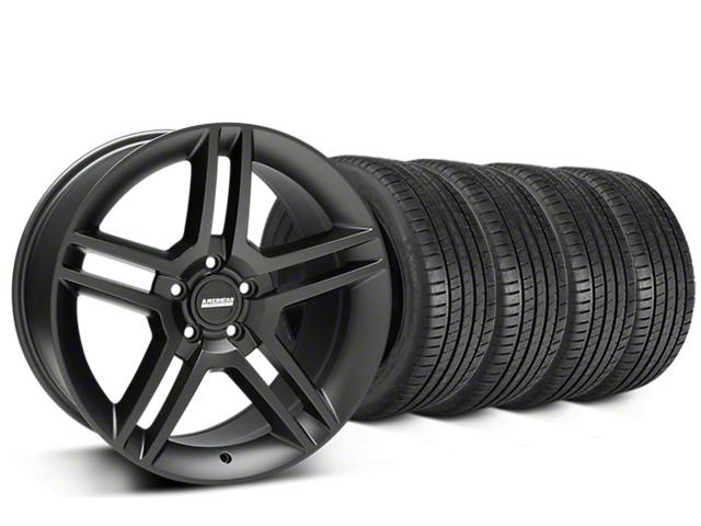 2010 GT500 Style Matte Black Wheel & Michelin Pilot Super Sport Tire Kit - 19x8.5 (05-14 All)