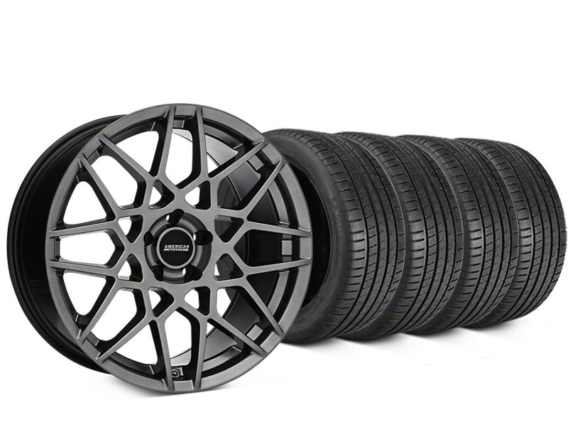 2013 GT500 Style Hyper Dark Wheel & Michelin Pilot Super Sport Tire Kit - 19x8.5 (05-14 All)
