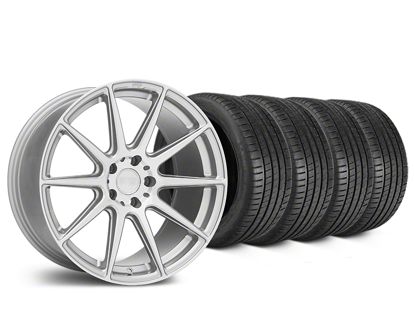 Niche Essen Silver Wheel & Michelin Pilot Super Sport Tire Kit - 19x8.5 (05-14 All)