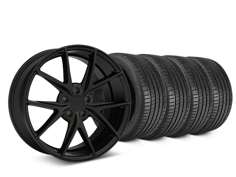 Niche Misano Matte Black Wheel & Michelin Pilot Super Sport Tire Kit - 19x8.5 (05-14 All)