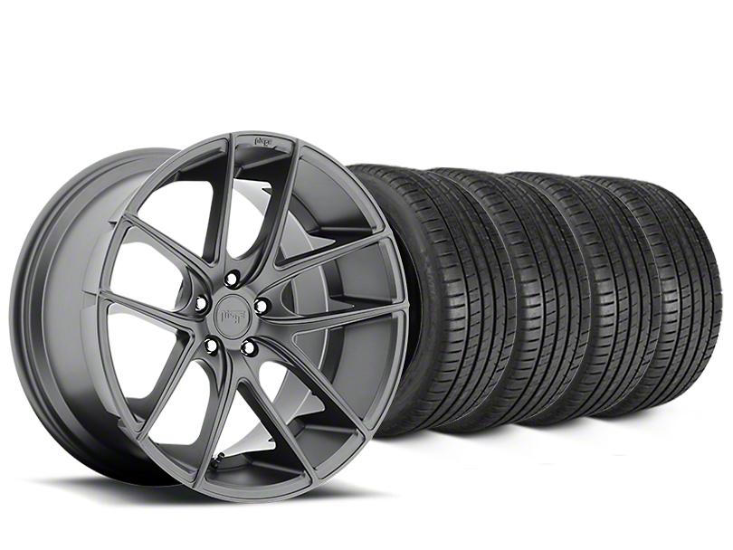 Niche Targa Matte Anthracite Wheel & Michelin Pilot Super Sport Tire Kit - 19x8 (05-14 All)