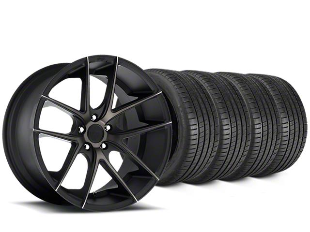 Niche Targa Matte Black Wheel & Michelin Pilot Super Sport Tire Kit - 19x8 (05-14 All)