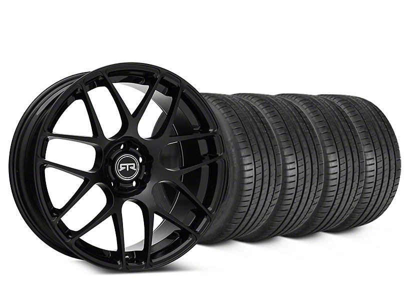 RTR Black Wheel & Michelin Pilot Super Sport Tire Kit - 19x8.5 (05-14 All)