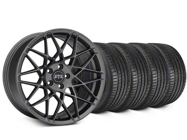 RTR Tech Mesh Charcoal Wheel & Michelin Pilot Super Sport Tire Kit - 19x9.5 (05-14 All)