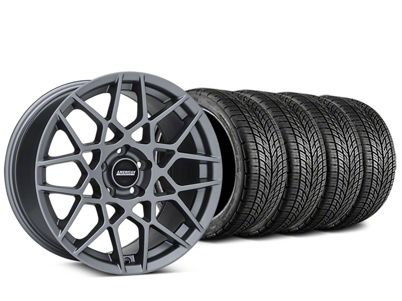 2013 GT500 Style Charcoal Wheel & BF Goodrich G-FORCE COMP 2 Tire Kit - 20x8.5 (05-14 All)