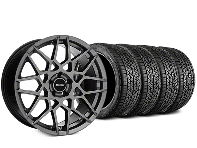 2013 GT500 Style Hyper Dark Wheel & BF Goodrich G-FORCE COMP 2 Tire Kit - 20x8.5 (05-14 All)