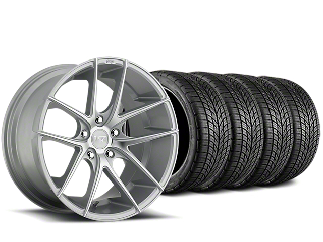 Niche Targa Matte Silver Wheel & BF Goodrich G-FORCE COMP 2 Tire Kit - 20x8.5 (05-14 All)