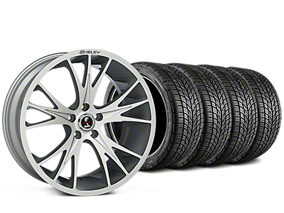 Shelby CS1 Hyper Silver Wheel & BF Goodrich G-FORCE COMP 2 Tire Kit - 20x9 (05-14 All)